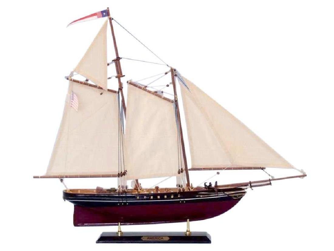 """Wooden America Limited Model Sailboat 24"""" - 11"""