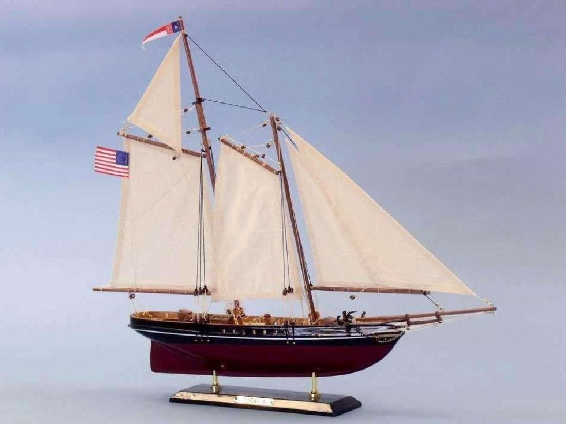 """Wooden America Limited Model Sailboat 24"""" - 5"""