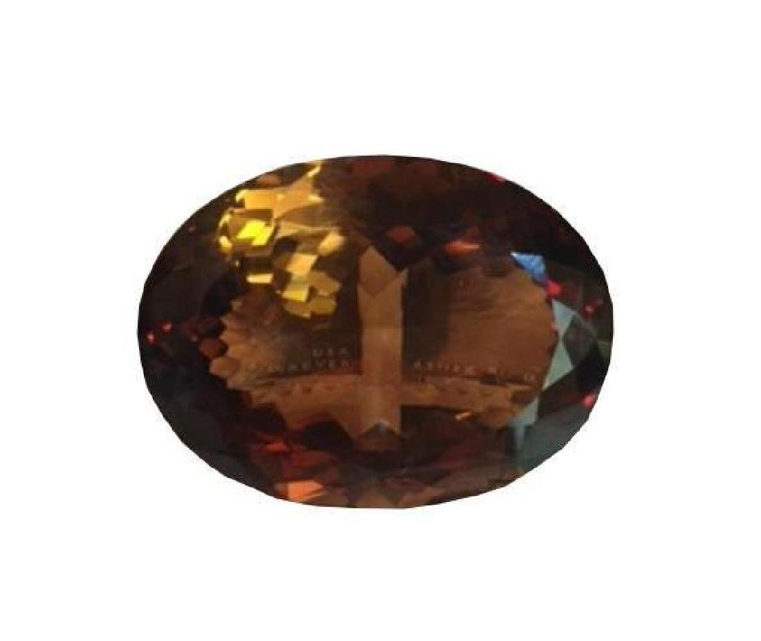 HUGE! 172.85ct Smoky Quartz Oval Facet Gemstone