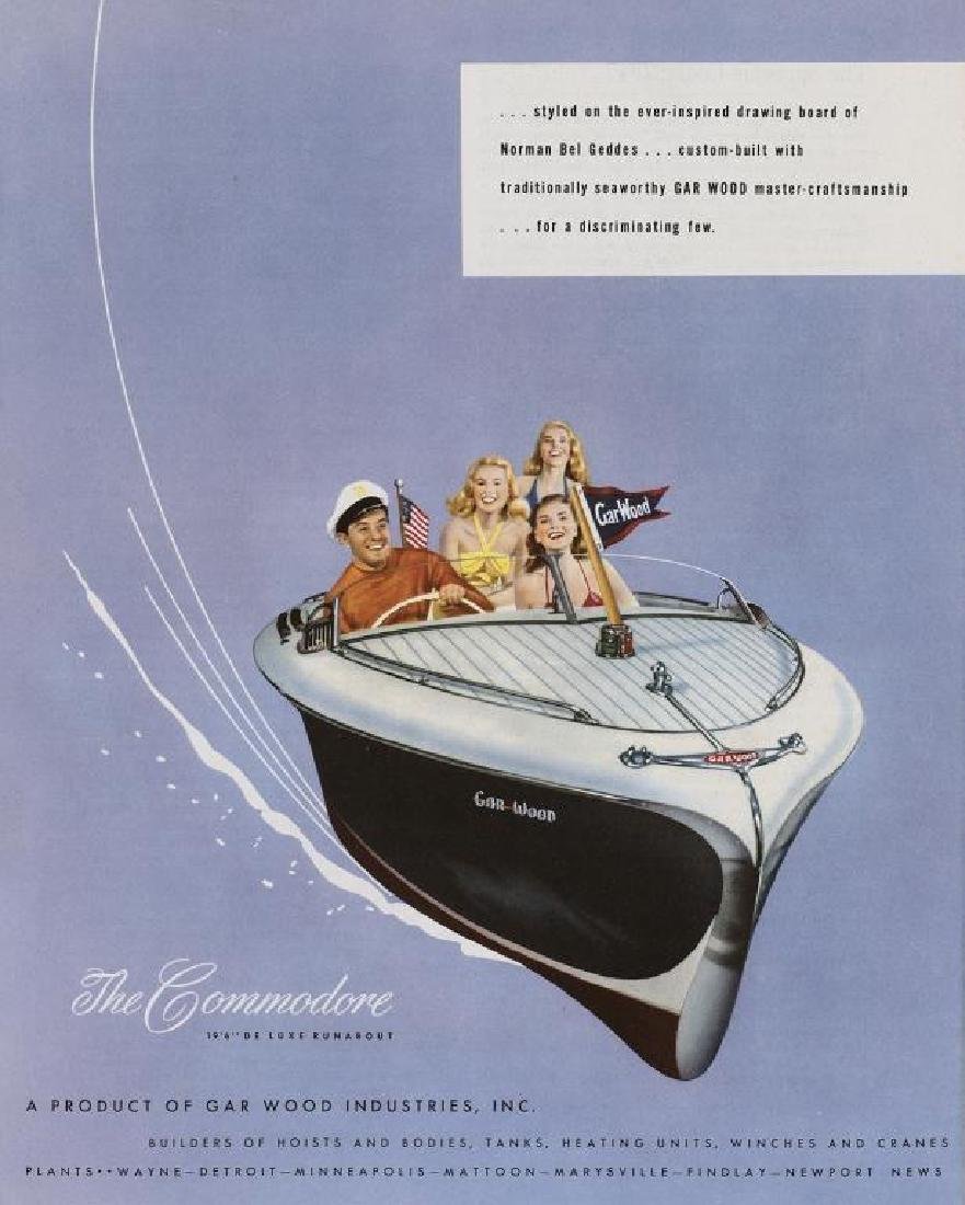 Original 1947 The Commodore Runabout Boat Ad