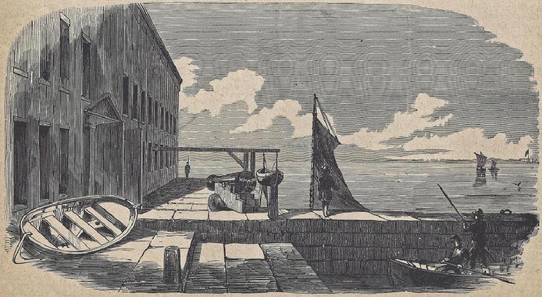 "Antique Print "" The Gorge Of Fort Sumter"""