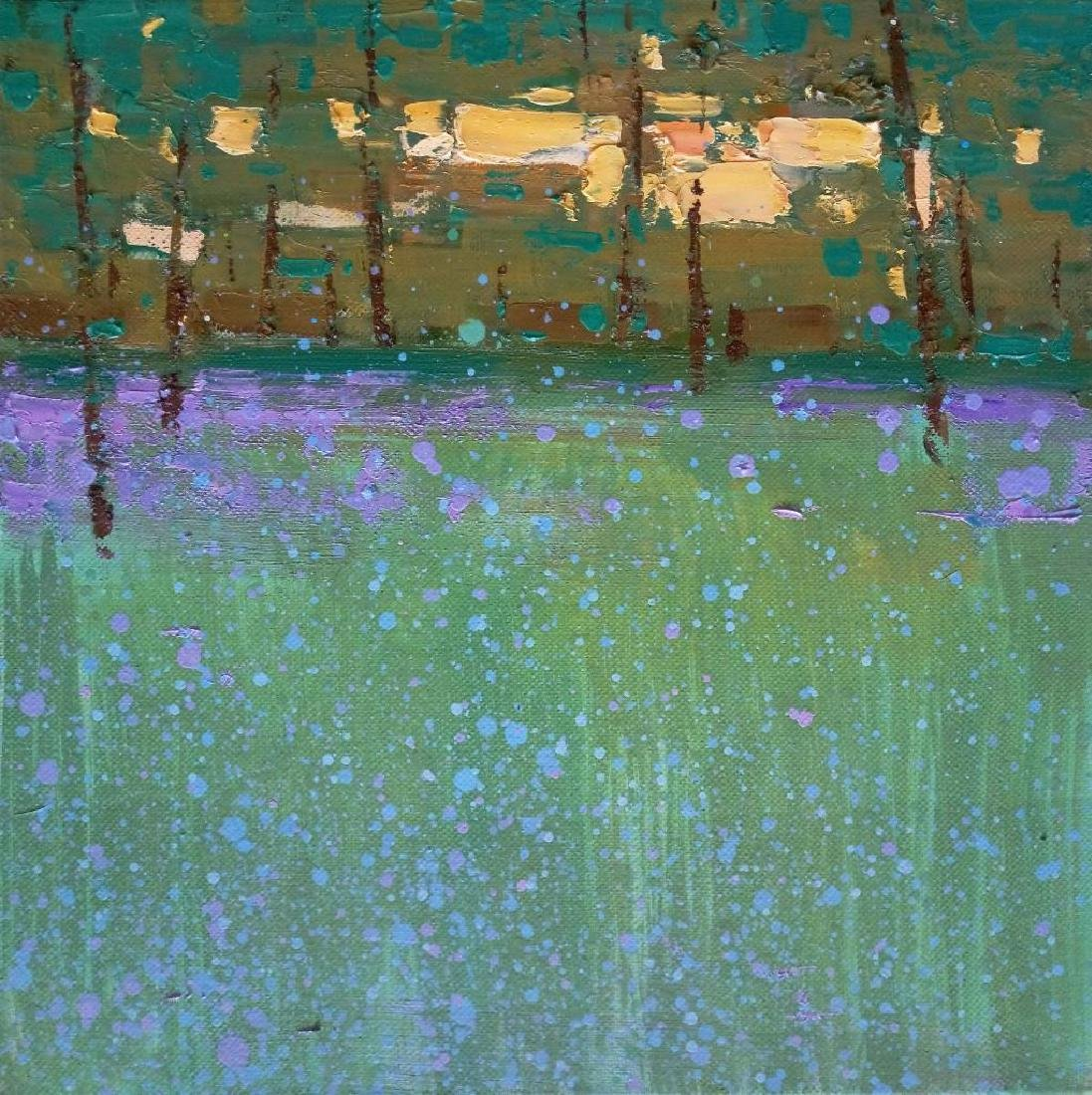 Impressionism OIL PAINTING GREEN FOREST Plein Air