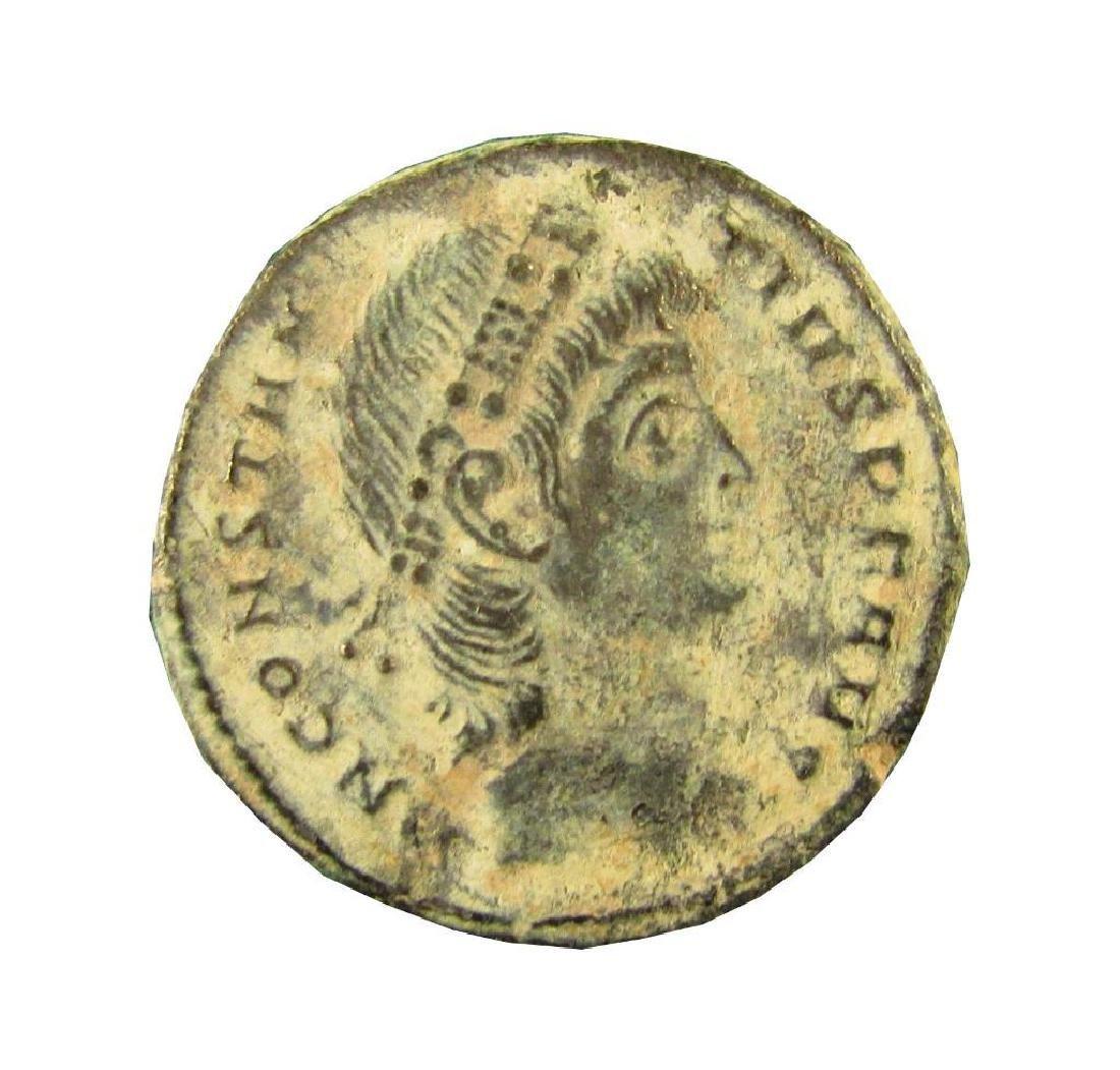 CONSTANTIUS II 337-361 AD Nummus Roman Bronze Coin