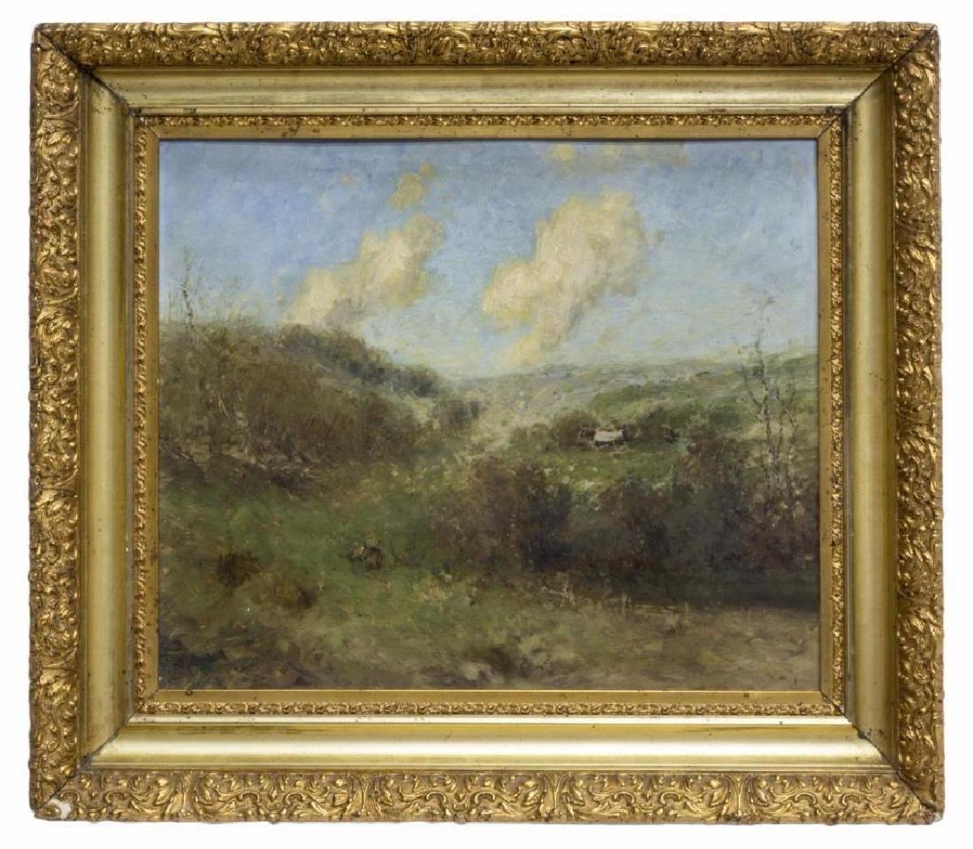 Framed Impressionistic Landscape On Art Board