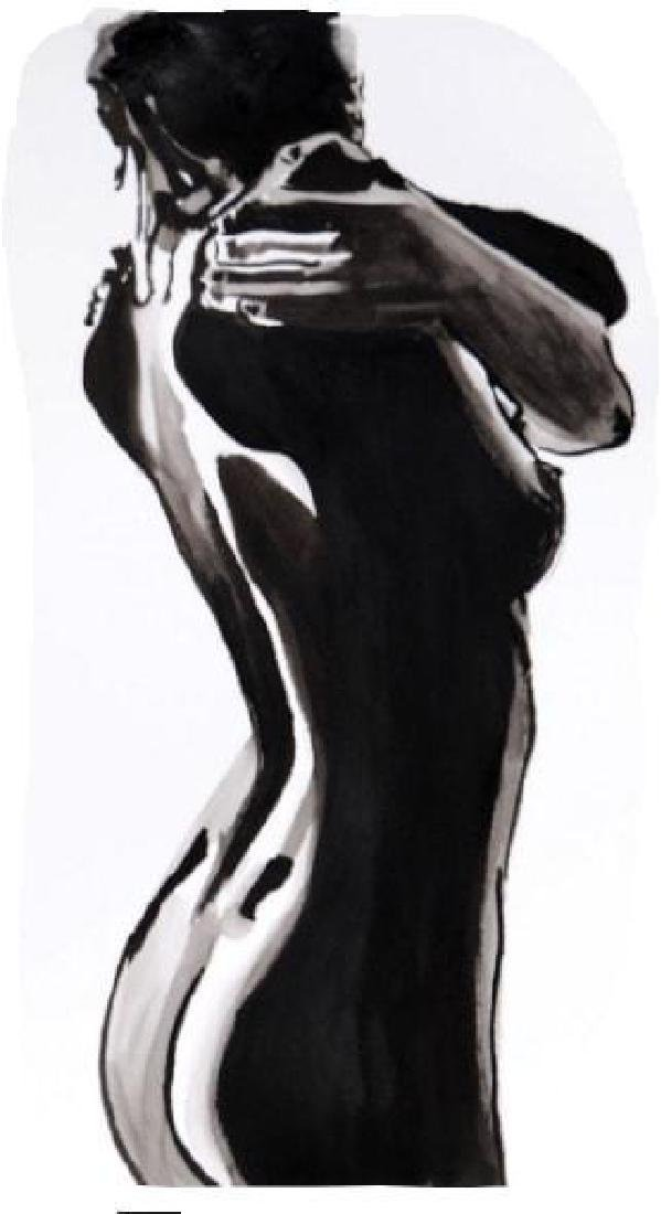 Nude 90 / Black And White (41 X 24 Cm)