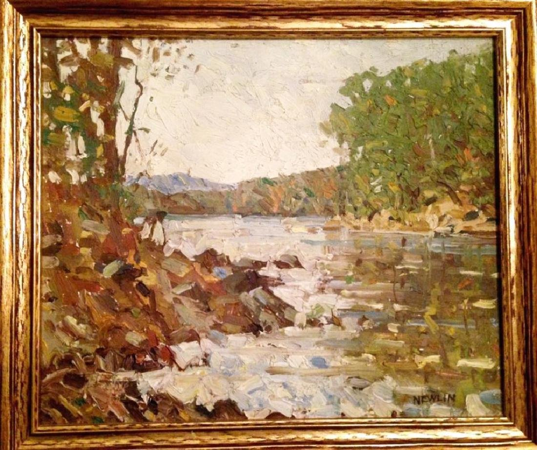 1930's Signed Hudson Valley Landscape