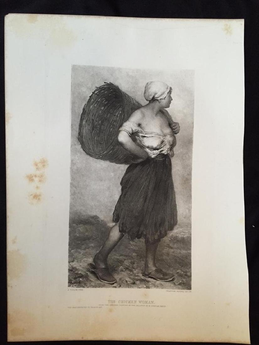 1880's Photogravure Print, The Chicken Woman