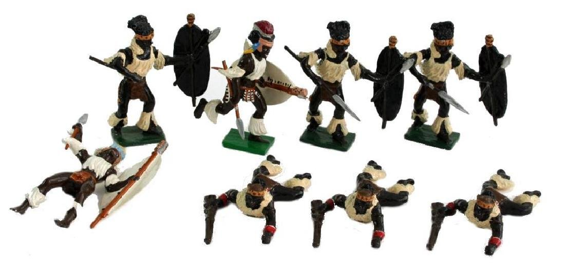 Vintage Sets, British Metal Figures, Zulu Warriors - 2