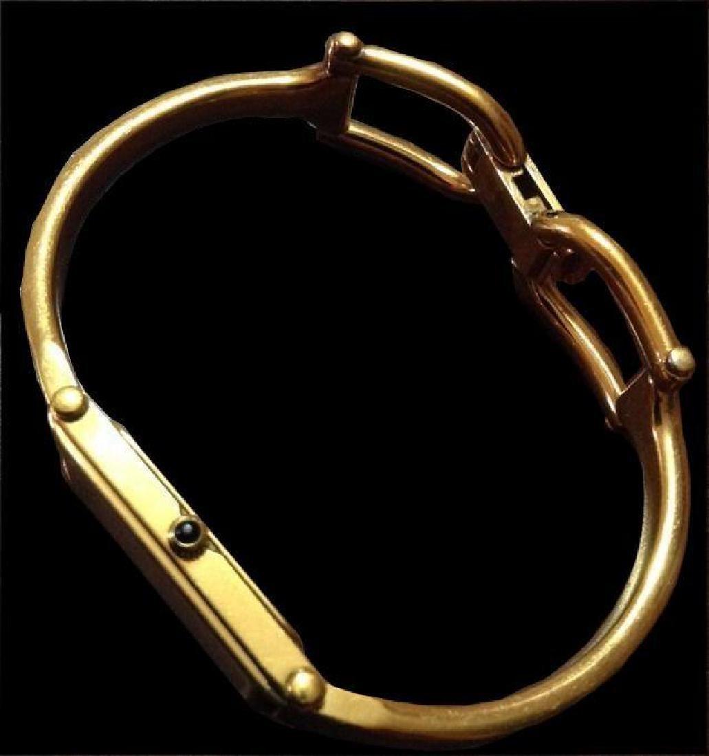 Authentic Gucci Ladies Gold Bracelet Wrist Watch - 2
