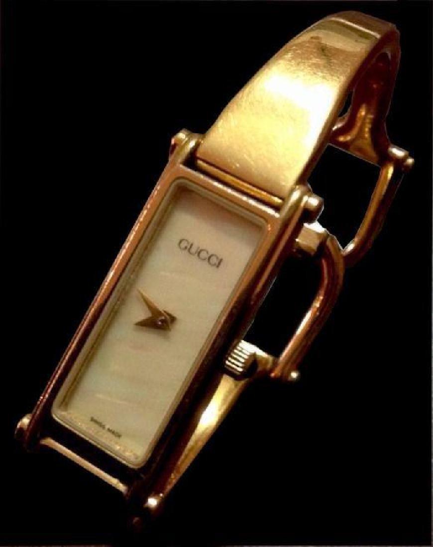 Authentic Gucci Ladies Gold Bracelet Wrist Watch - 3