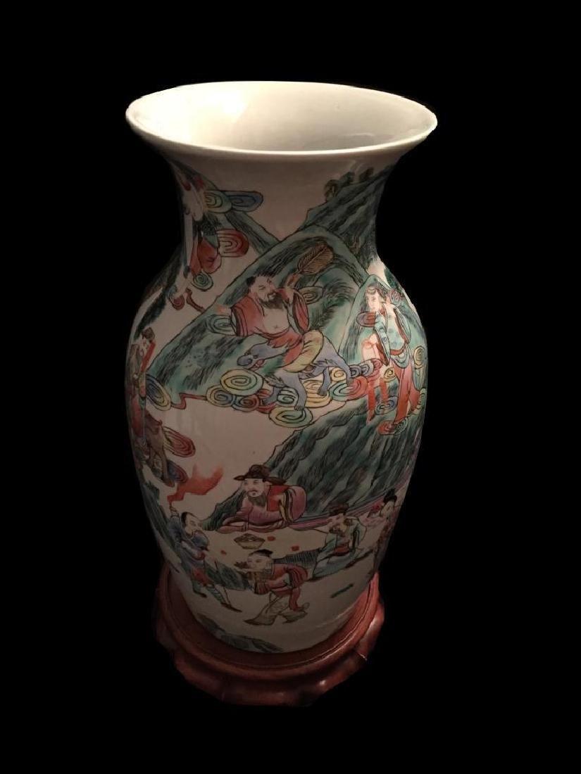 Chinese Enameled Porcelain Royal Vase - 5