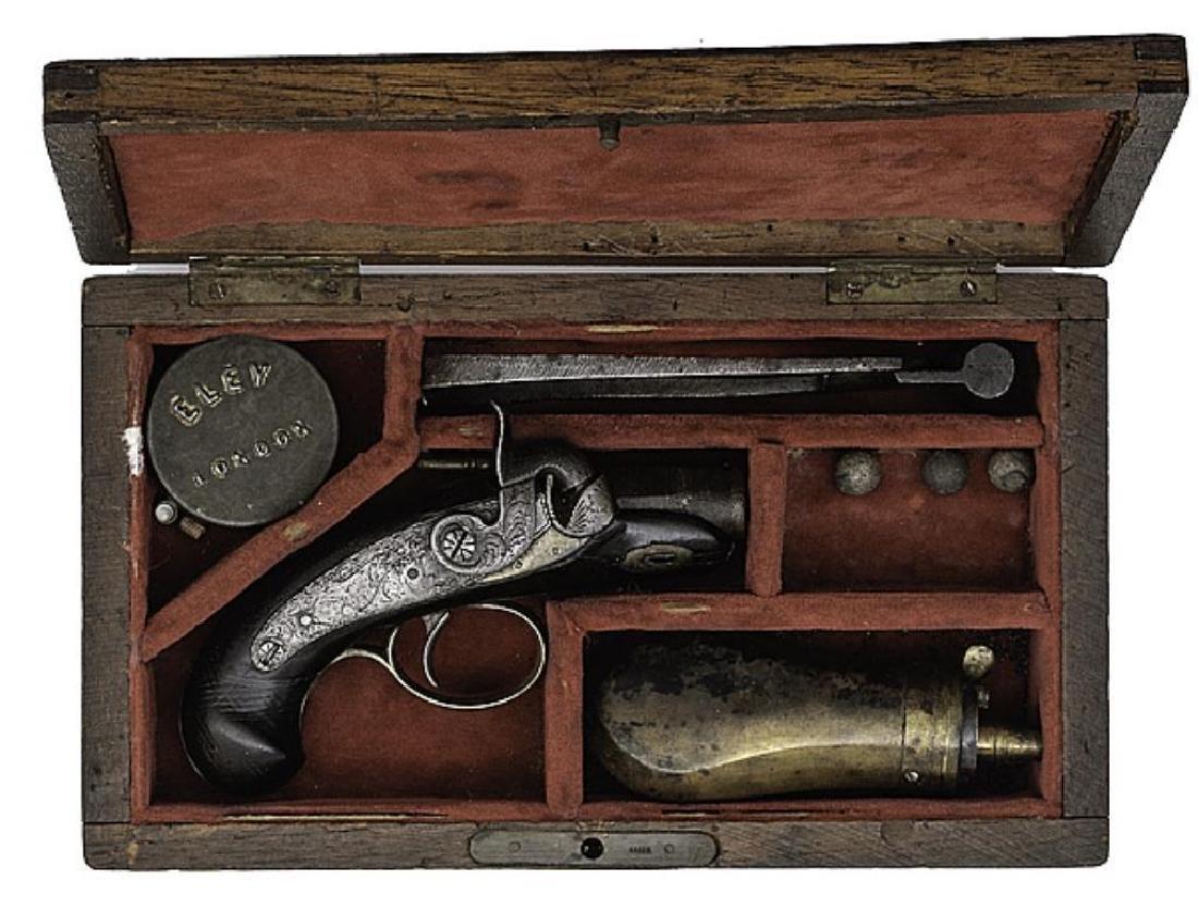 """1830's Cased """"peanut"""" Derringer"""
