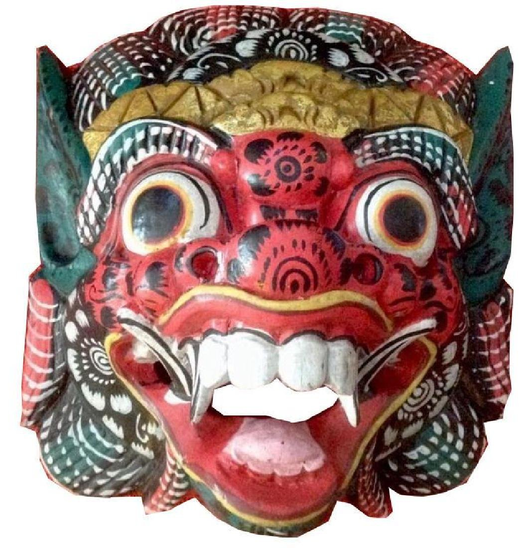 Chinese Hand-carved Dragon Beast Mask