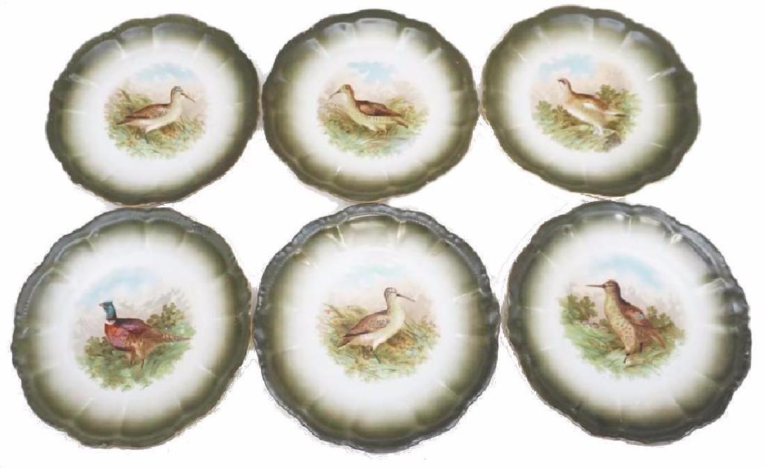 6pc set Moschendorf Bird Plates