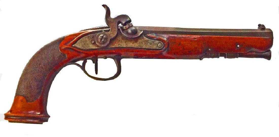c1830 Continental Single Shot Percussion Pistol