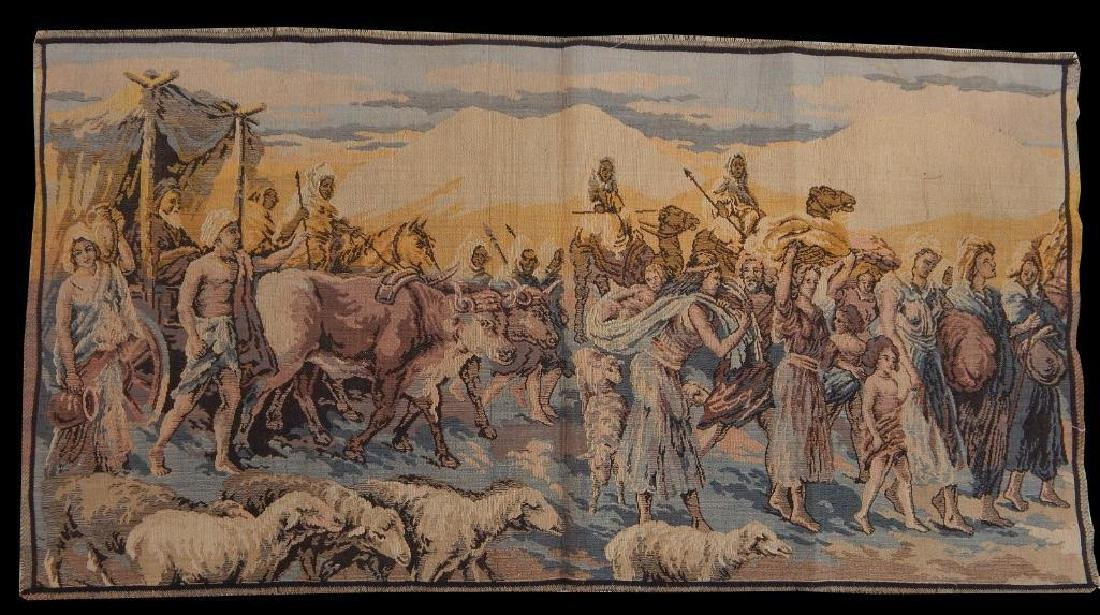 Vintage French Beautiful Tapestry Wall Hanging 50x95cm