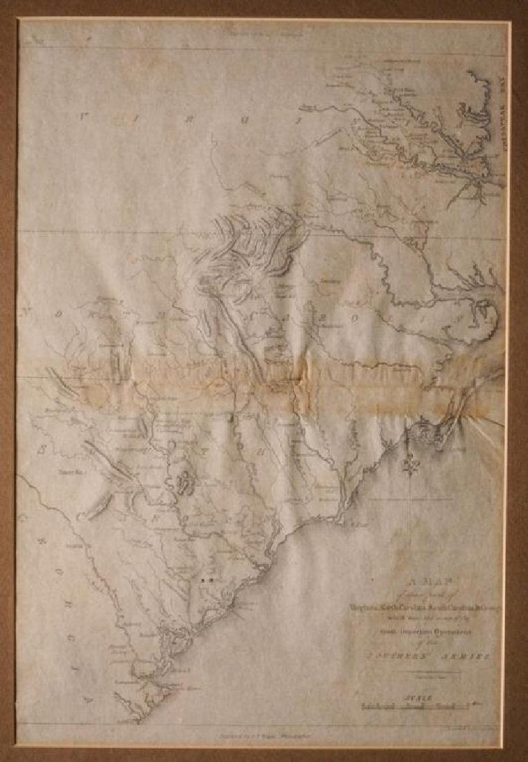 18thc Map of Virginia, Carolina's & Georgia