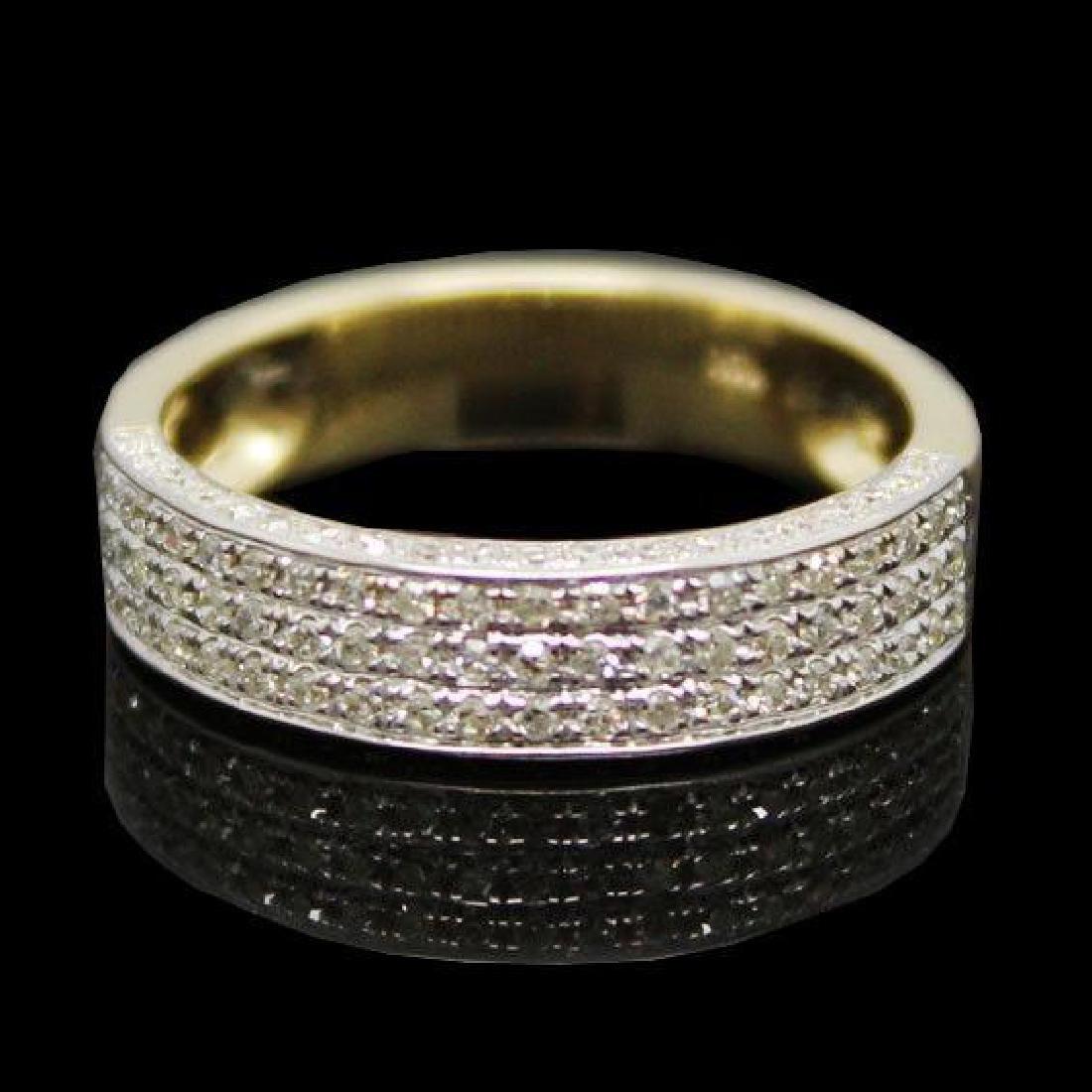 Diamond & Gold Wedding Band Ring