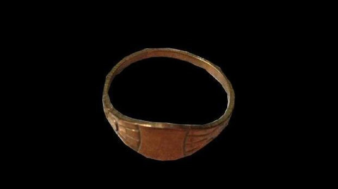 19thc Victorian Copper Signet Ring