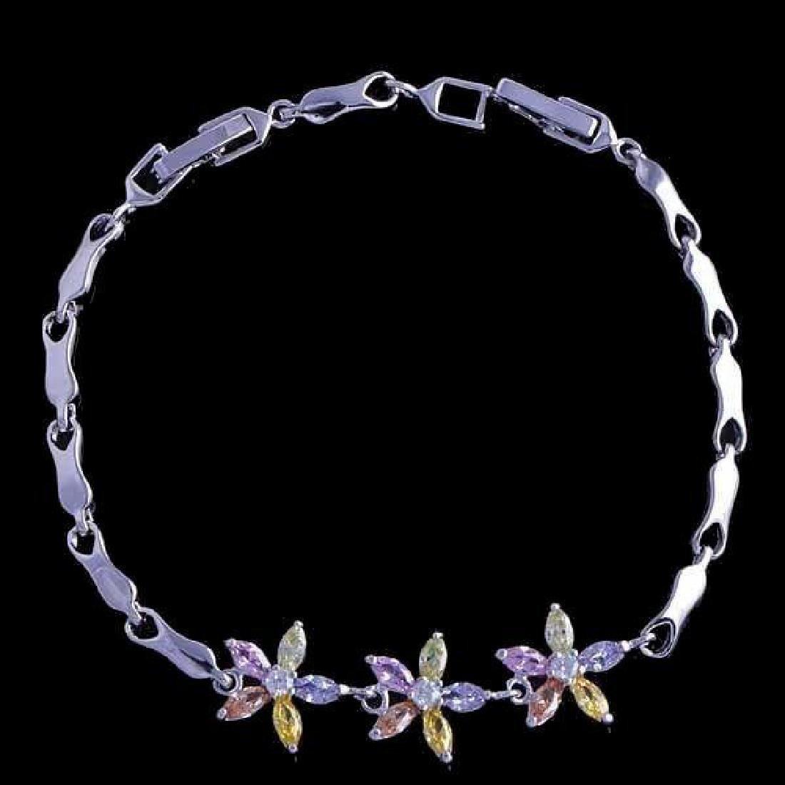 Multi-colored Spring Flower Bracelet