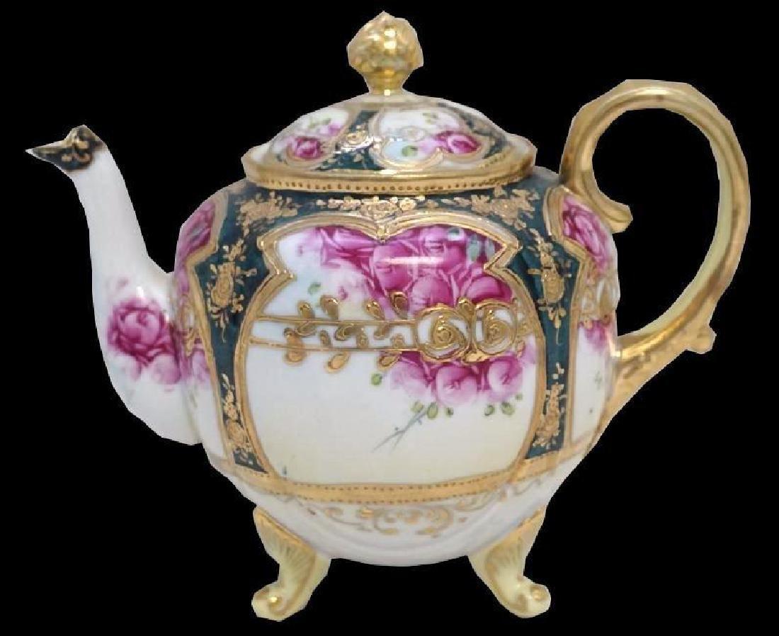 Hand Painted Nippon Porcelain Tea Pot