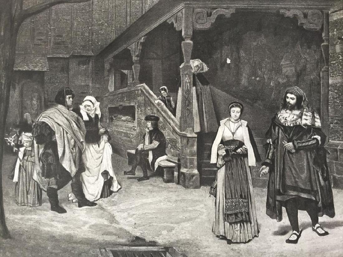 19thc Photogravure Print, Faust & Marguerite