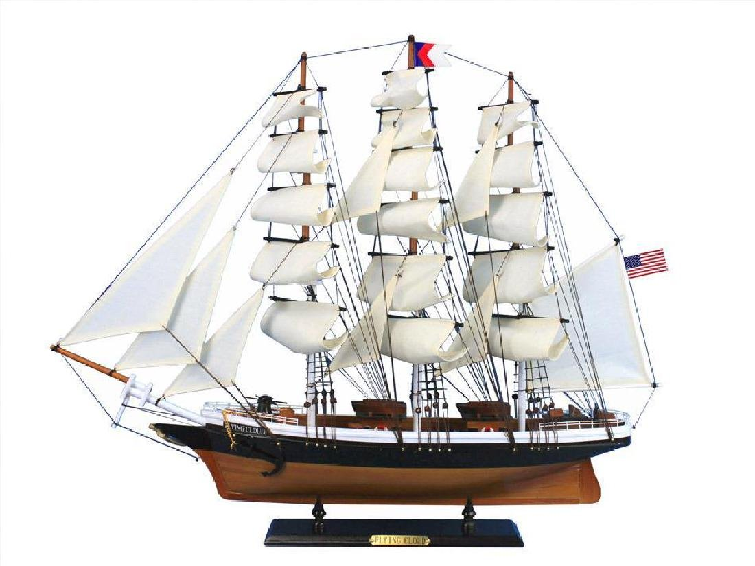 Wooden Flying Cloud Tall Model Clipper Ship 30""