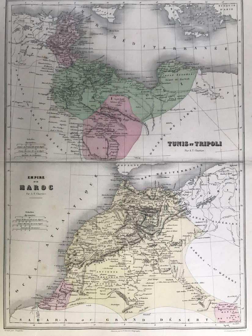Unique Color Map of Tunis and Maroc