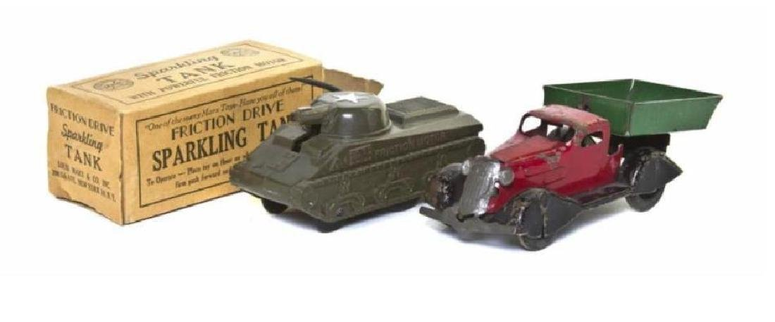 Pair of Mid 20th Century Marx Friction Drive Toys