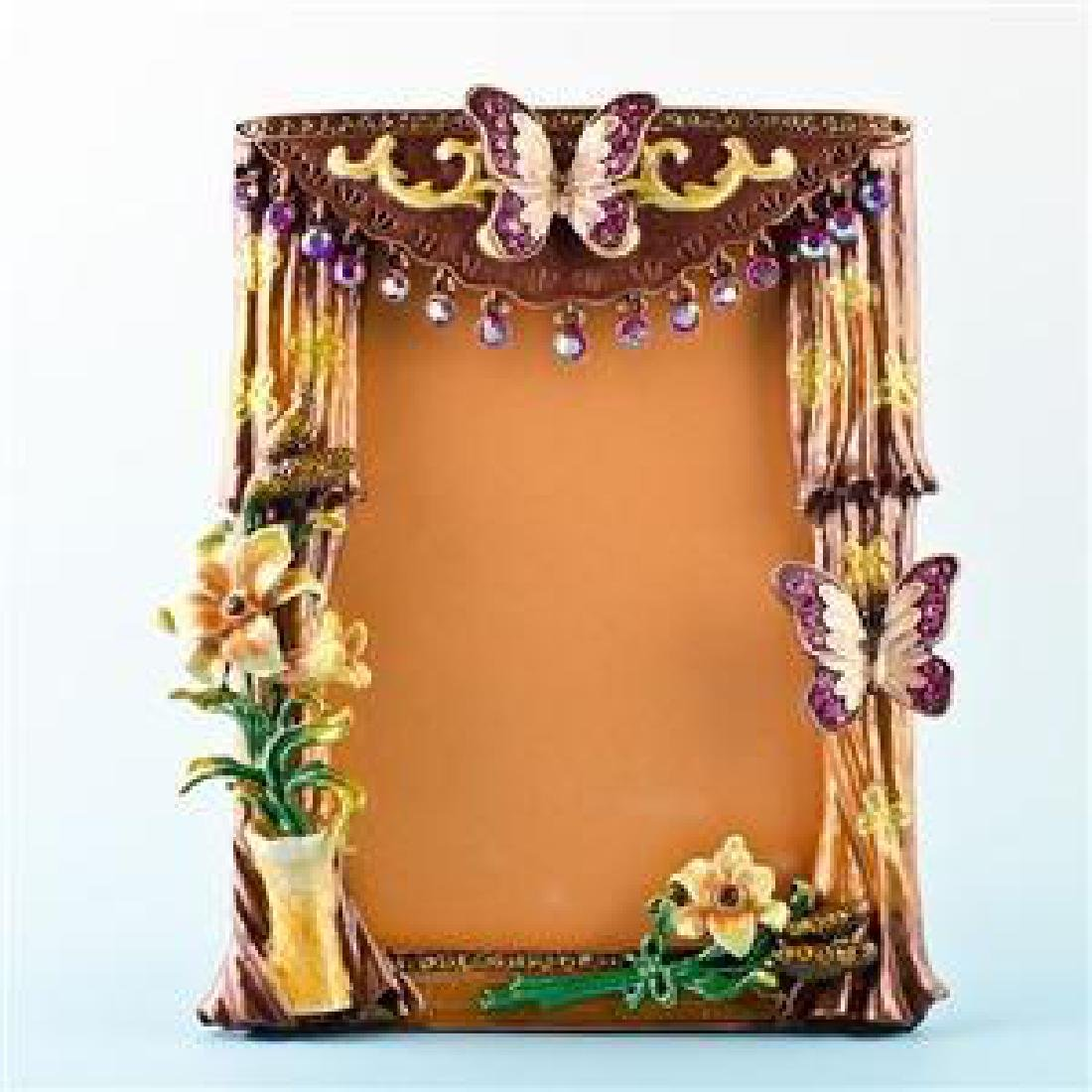 "Faberge Inspired 5.5"" X 4.5"" Curtains With Butterfly"