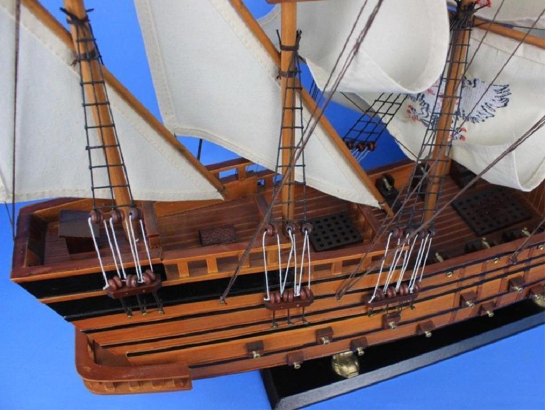"Wooden Spanish Galleon Model 34"" Ship - 4"