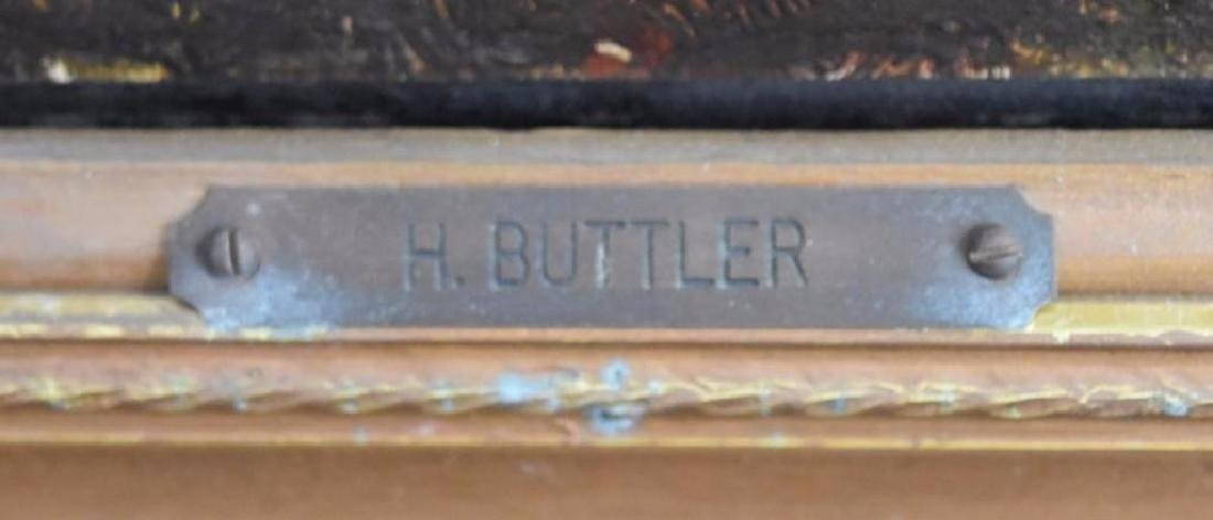 H.C. Buttler; 19thC. English Oil Painting Signed - 5