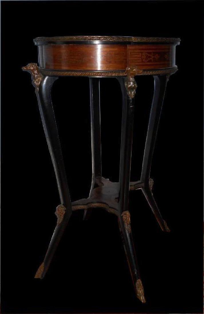 Late 19thc Napoleon III Style Mahogany Gueridon - 4
