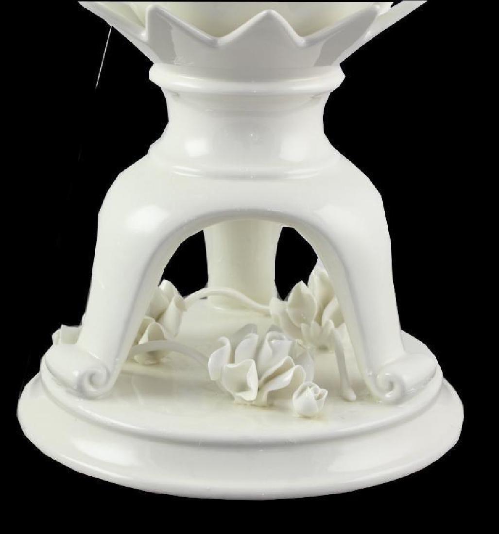 Floral Embellished Porcelain Urn - 2