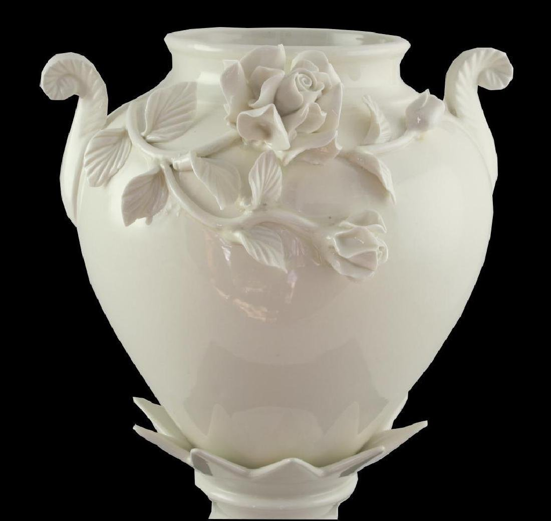 Floral Embellished Porcelain Urn - 3