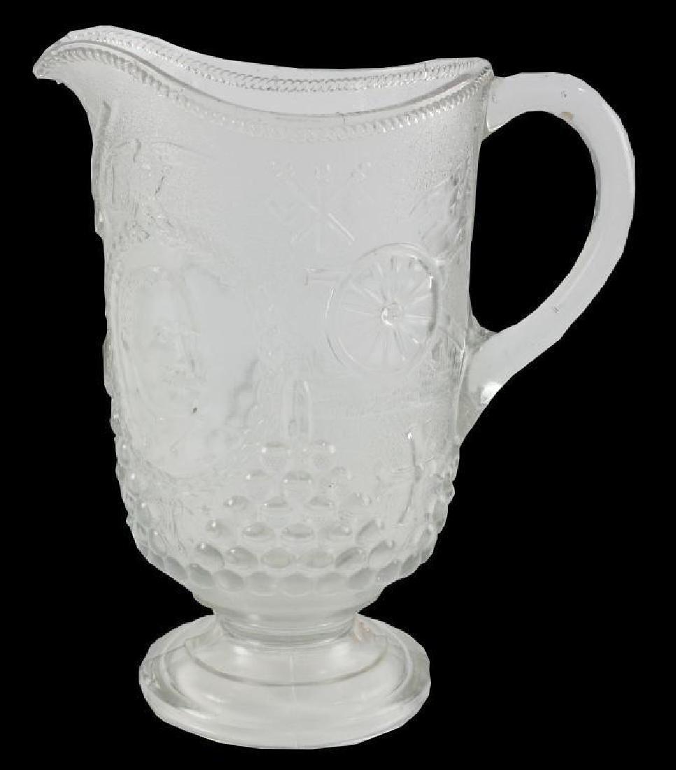 c1890 Spanish American War Pressed Glass Pitcher