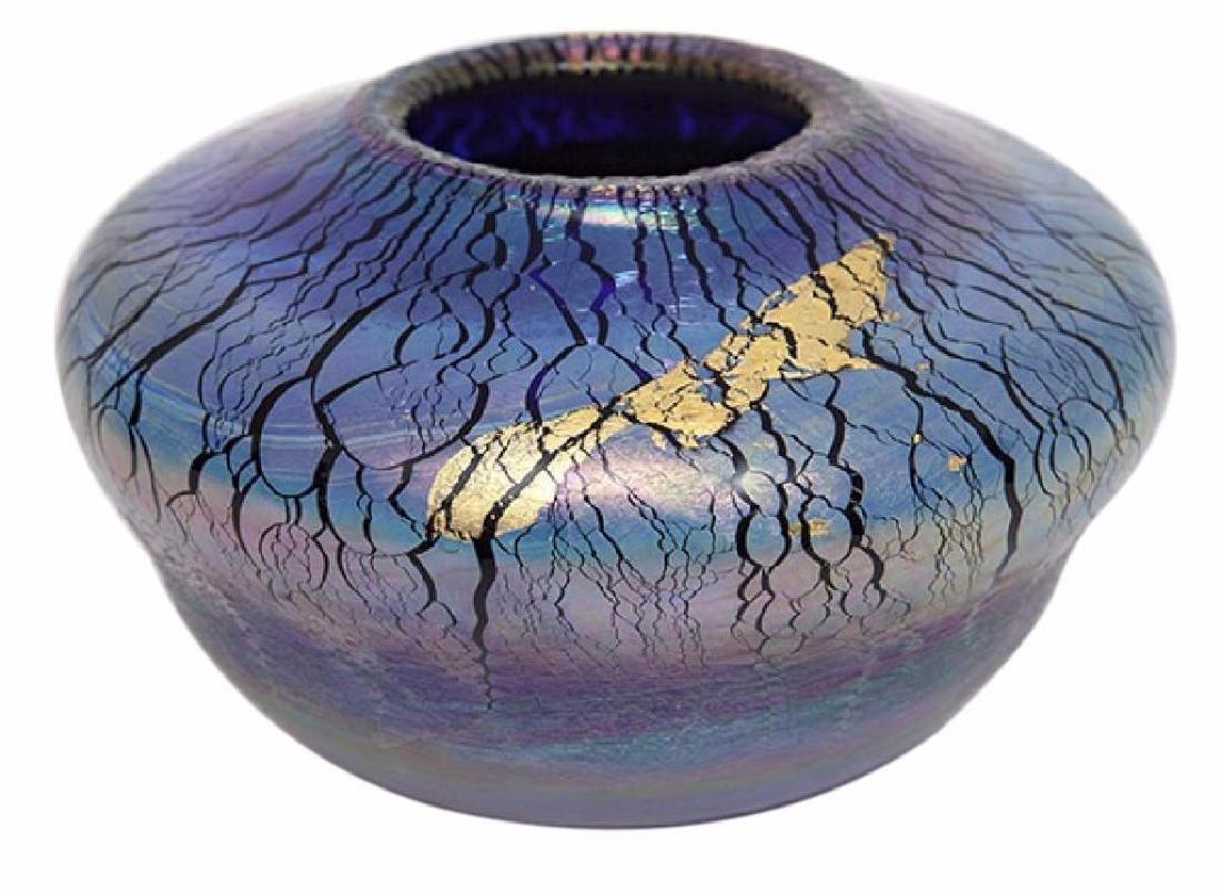 R. Eicholt Art Glass Vase