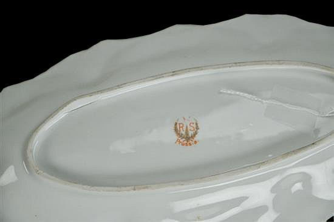 19thc R.S. Prussia Oval Relish Dish Tray - 2
