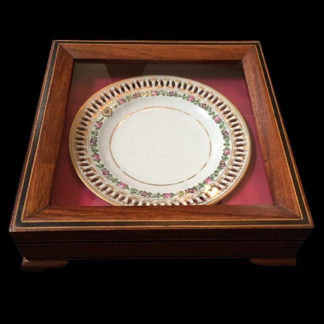 19thc German Meissen Museum Cased Plate