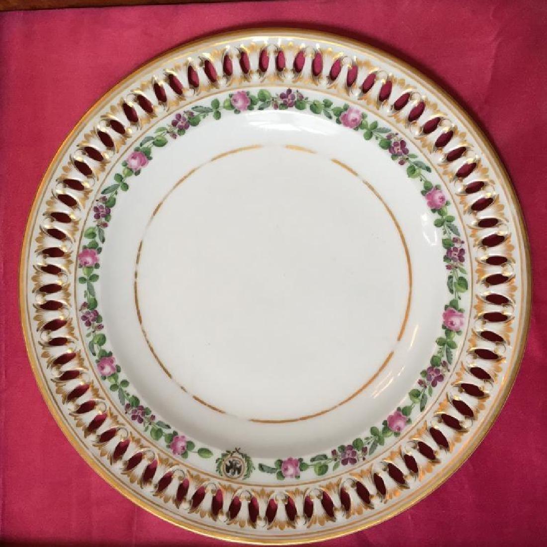 19thc German Meissen Museum Cased Plate - 2