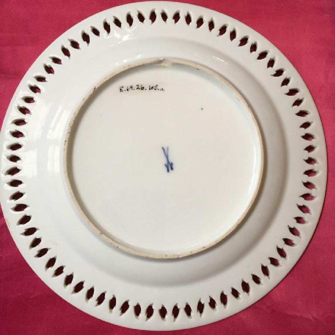 19thc German Meissen Museum Cased Plate - 3