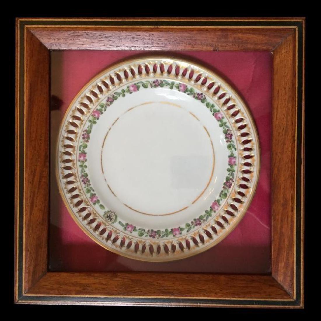 19thc German Meissen Museum Cased Plate - 4