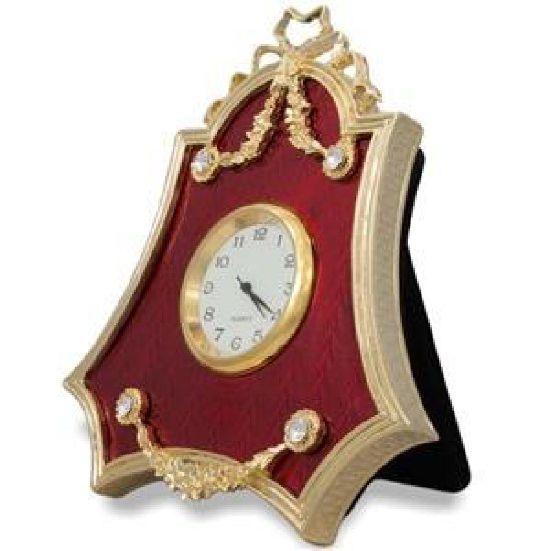 "Faberge Inspired 4"" Faberge Red Enameled Guilloche - 2"