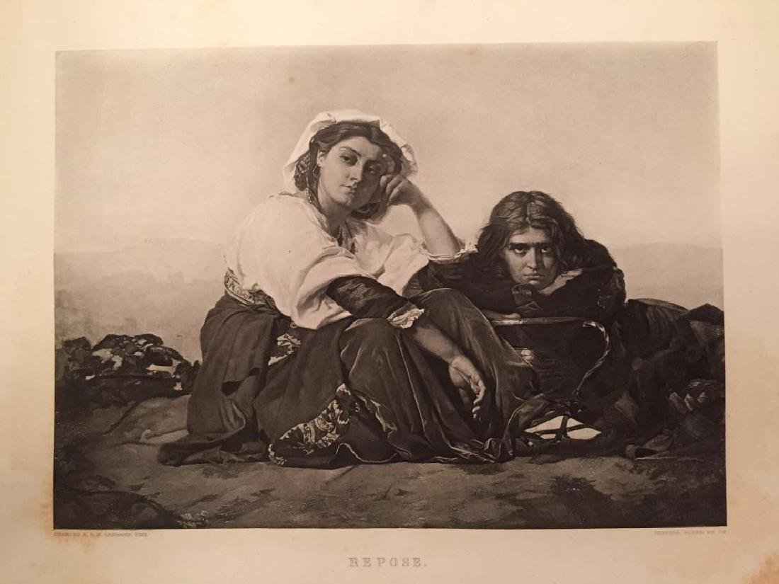 1880's Photogravure, Italian Peasants, Repose
