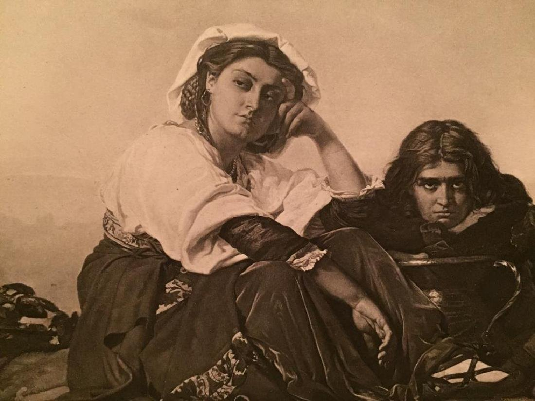 1880's Photogravure, Italian Peasants, Repose - 2