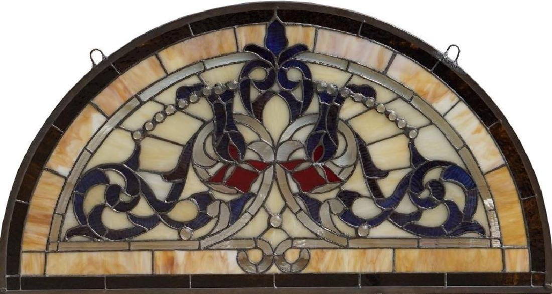 Half Round Tiffany Style Stained Glass Window Beveled - 10