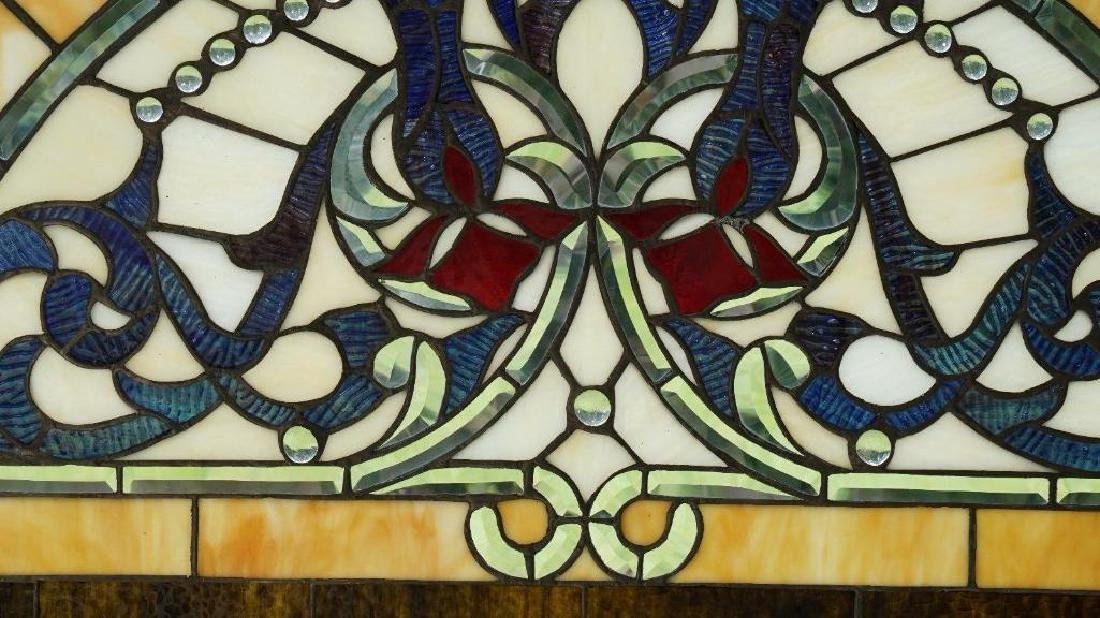 Half Round Tiffany Style Stained Glass Window Beveled - 3