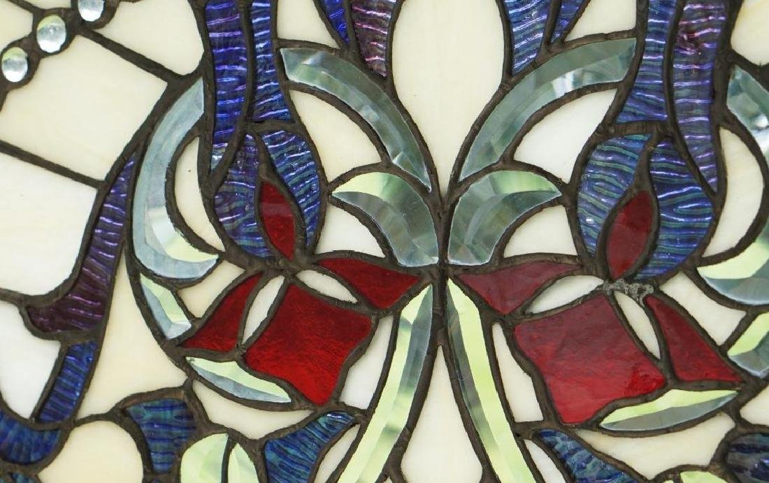 Half Round Tiffany Style Stained Glass Window Beveled - 4
