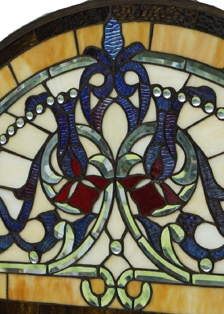 Half Round Tiffany Style Stained Glass Window Beveled - 6