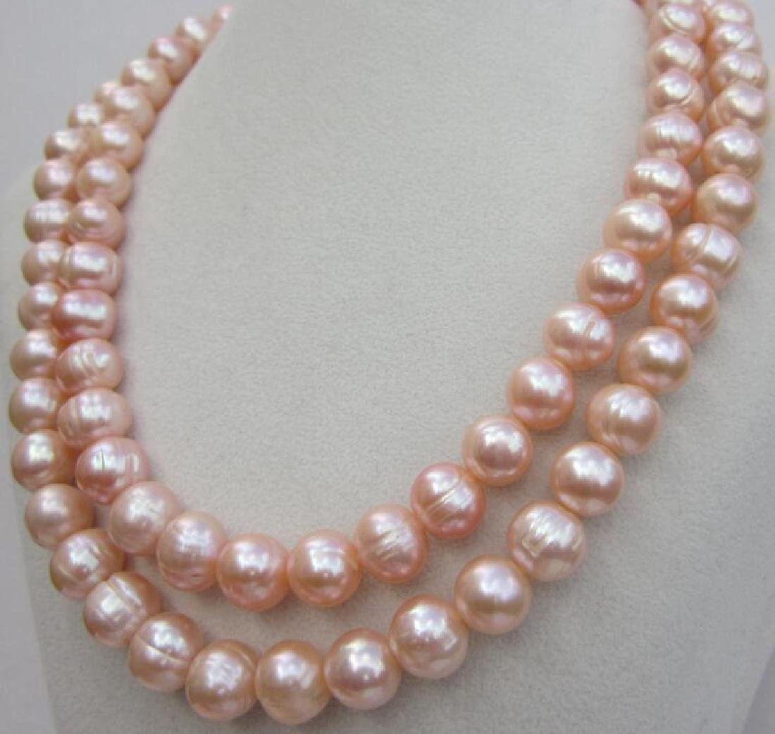 Aaa 10-11mm Perfect South Sea Genuine Gold Pink Pearl